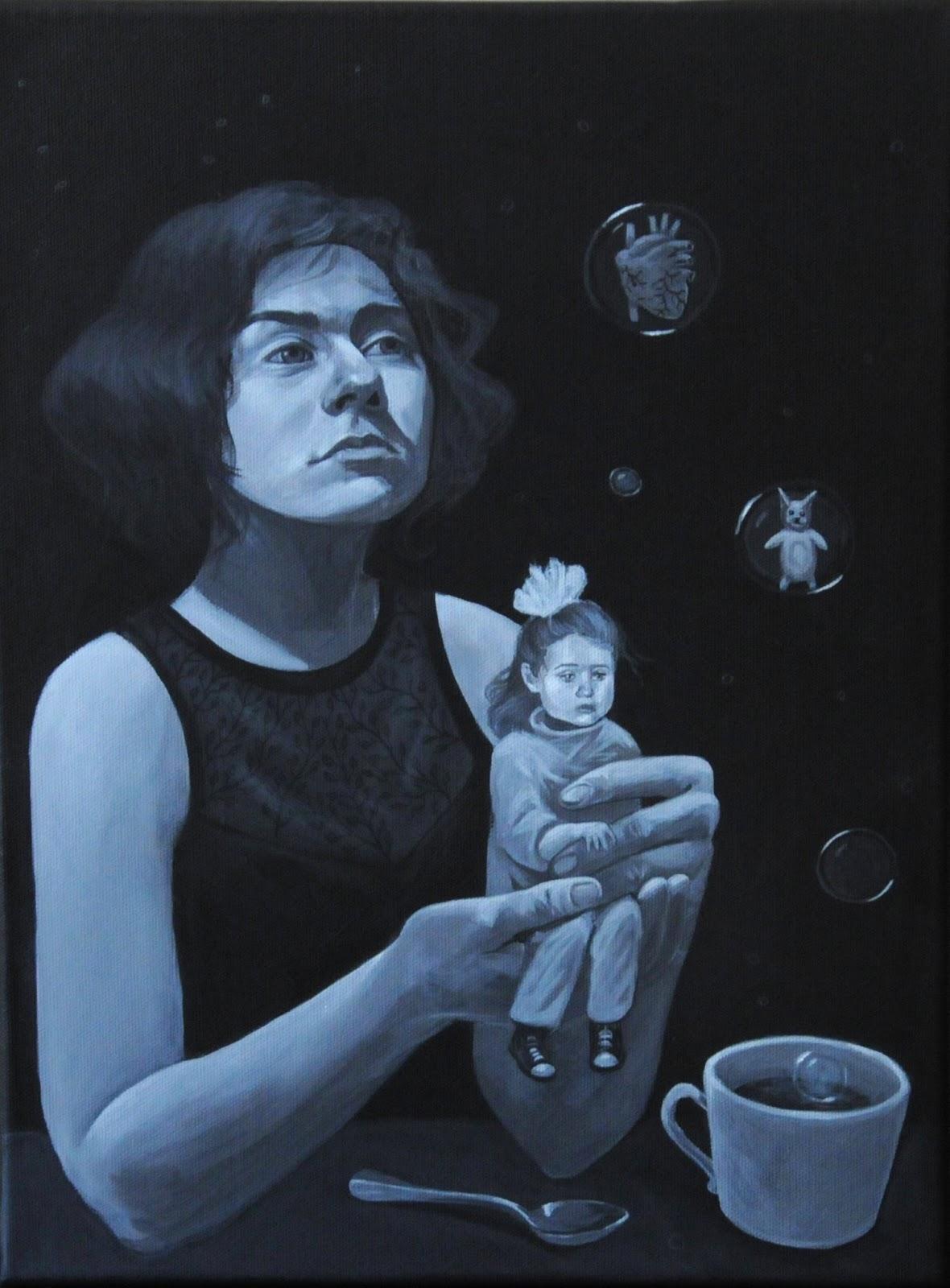 MIHAELA PARASCHIVUHere's Alice / 30x40 cm