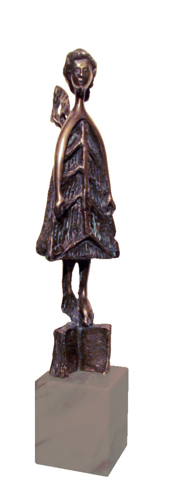 The Angel, 2011, Bronze with marble base, Edition of 7, 9x39x10 cm