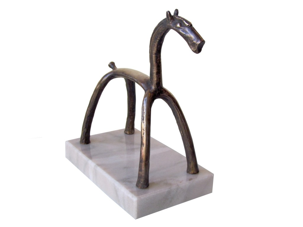 The Horse 2, 2010, Bronze with marble base, Edition of  7, 17x19x9 cm
