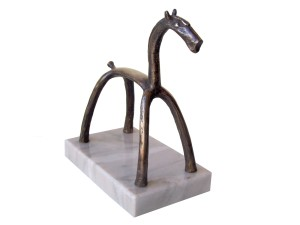 The Horse 1, 2010, Bronze with marble base, Edition of  7, 17x19x9 cm