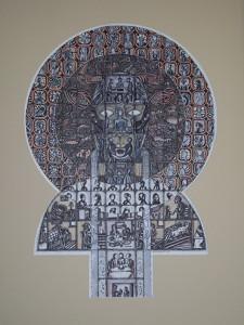 Totem 3, 2012, Mixt Graphic Technique, 72 x 56 cm