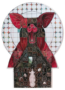 Totem 3, 2012, Mixed Media, 72x56 cm